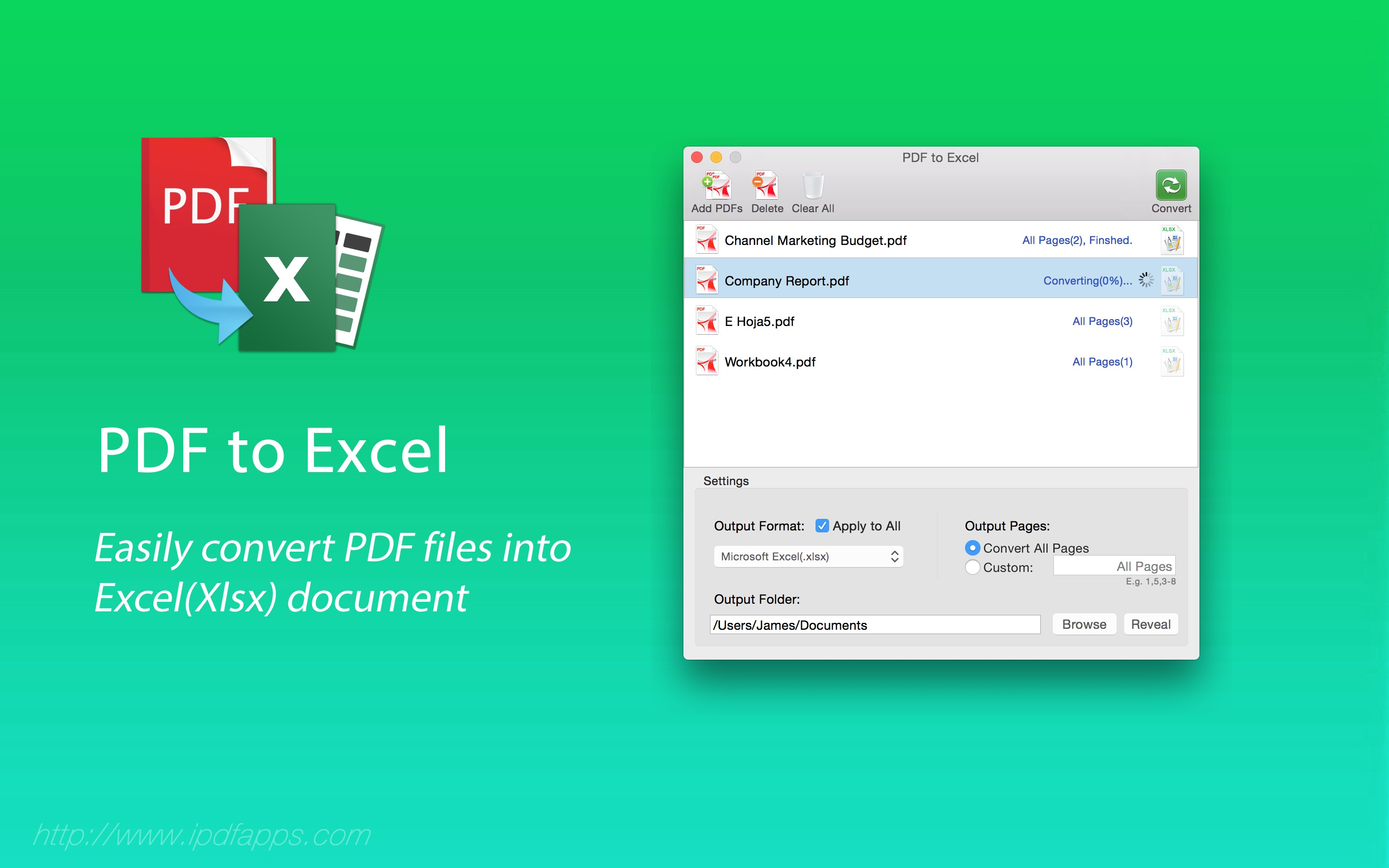 convert excel to pdf with color