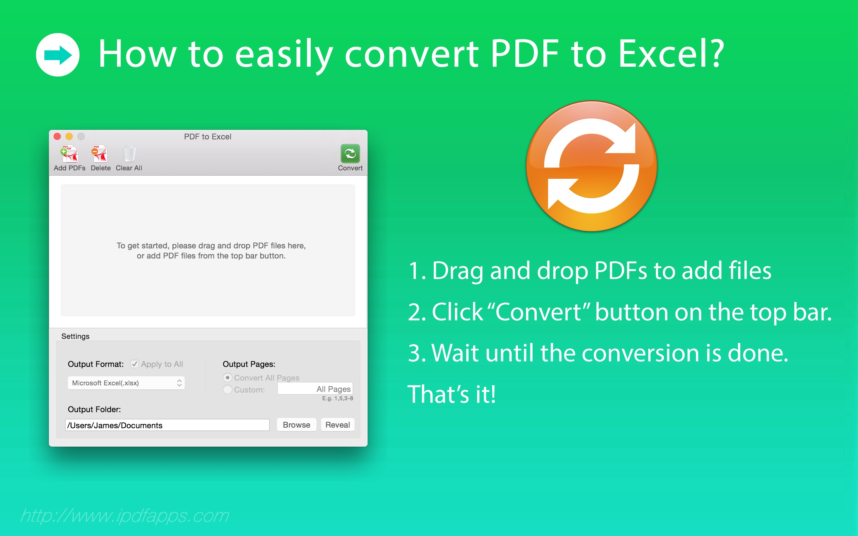 PDF to Excel | iPDFApps Software